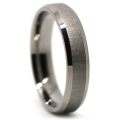 Titanium Thin Mens Wedding Ring Brushed Finish