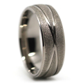 Titanium Sandblast Mens Wedding Ring