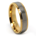 Mens Titanium and Gold Ring