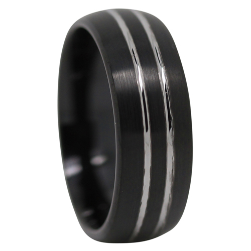 Brushed Black Tungsten Ring