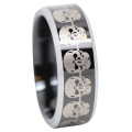 Black Tungsten Skull Ring