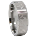 Tungsten Freemason Ring