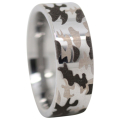 Flat Camo Tungsten Ring