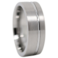 Brushed Tungsten Ring