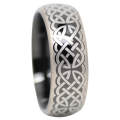 Black Celtic Tungsten Ring