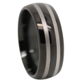 Black Tungsten Mens Ring
