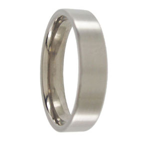 Titanium Brushed Wedding Ring