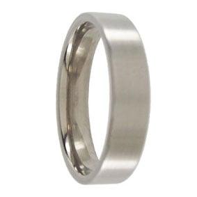 Titanium Brushed Wedding Ring