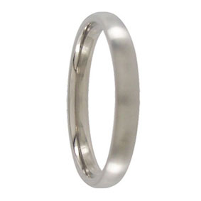 3mm Rounded Titanium Mens Ring