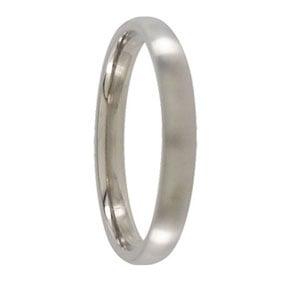 3mm Rounded Titanium Mens Ring