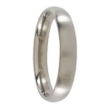 4mm Brushed Titanium Mens Ring