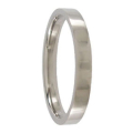 3mm Polished Titanium Mens Wedding Ring