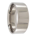 Polished Titanium Mens Ring