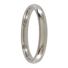 3mm Titanium Mens Ring
