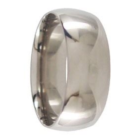 8mm Titanium Mens Wedding Ring