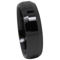 Polished Ceramic Mens Wedding Ring