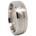 Rounded Comet Titanium Mens Ring