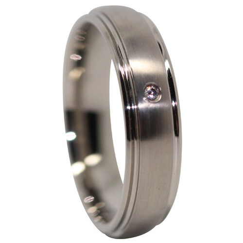 Titanium Mens Engagement Ring