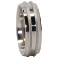 Titanium Mnes Ring With Raised Twin Centerlines
