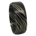 Flat Black Nebula Titanium Mens Ring