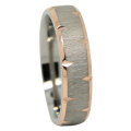 Gold Plated Knife Edge Titanium Wedding Ring