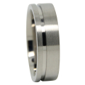 Titanium Wedding Ring With Offset Groove