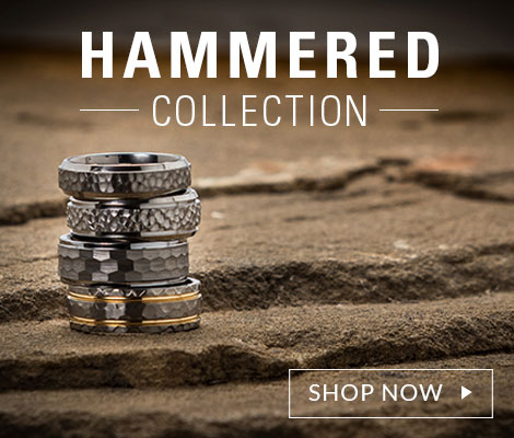 hammered rings collection