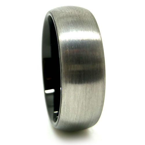 Tungsten With Black Inner Band Accent Men S Wedding Ring